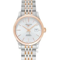 Longines Record L23215727 Sunray Silver Dial Ladyand039s Watch Genuine Freesandh