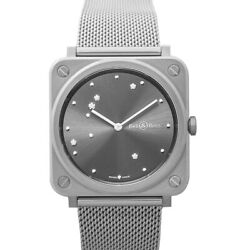 Bell And Ross Instruments Brs-eru-st/sst Grey Dial Lady's Watch Genuine Freesandh