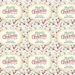 Personalised Merry Christmas Antique Christmas Design Wrapping Gift Paper Large