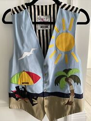 Cheap And Chic By Moschino Vintage Menand039s Vest Beach Tropical Sun It 52 Us 42