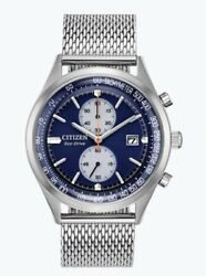 Citizen Menand039s Eco-drive Chandler Chronograph Blue Dial 43mm Watch Ca7020-58l