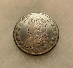 1818 Capped Bust Quarter - B-2 Var. - Very Nice Looking Coin - Free Ship And Ins