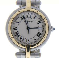 Panthere Steel-and-18k-gold 13749 White Dial Women's 31-mm Quartz Watch