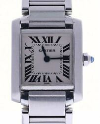 Tank Francaise Stainless-steel 2300 White Dial Womenand039s Quartz Watch