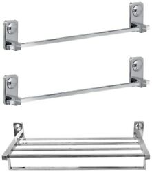 Doyours Combo Towel Rack 1pc Towel Bar 2pc Square Series-as8