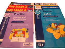 Key Stage 2 And 11+ Books X 6 And Bond Parent Guide To The 11+ Vgc