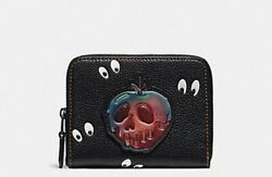 Brand New Authentic Disney X Coach Sw Poison Apple/spooky Eyes Small Wallet