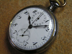 Hy Moser Military Pocket Watch Chronograph Imperial Russia Wwi