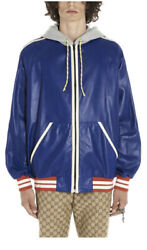 Leather Bomber Jacket / With Tags- Rrp3900 Aud