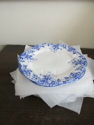 Shelley Dainty Blue Bone China England Set Of 10 Bread And Butter Plate