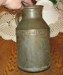 Vintage Bowman Dairy Co. Chicago Cream Can 5-44 No Lid