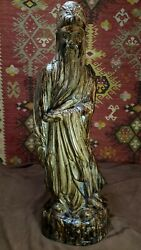 1981 Austin Productions Asian Sculpture Statue Lu-hsing - The Gods Of Happiness
