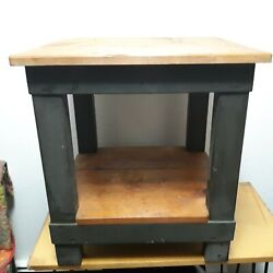 Solid Wood Modern Rustic Farmhouse Square Side Table 20.5 X 19 X 22