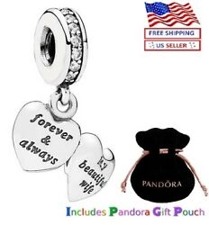 Authentic Pandora Sterling Silver S925 Ale My Beautiful Wife Charm 798339cz 16