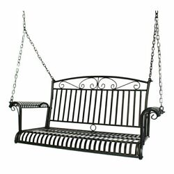 Porch Swing Hanging Bench Chair Patio Outdoor Furniture Antique Metal Yard Decor