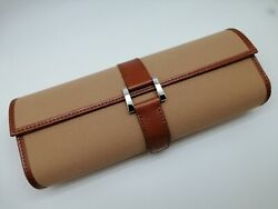 Rolex Novelty Canvas Travel Tube Brown Case 25 X 9.5 Cm New And 100 Original