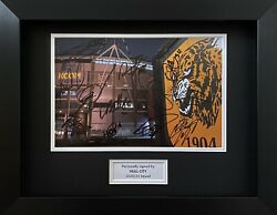 Hull City Photo Hand Signed By 2020/21 Manager And Squad In A3 Frame Display