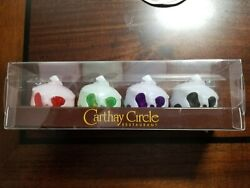 Disney Halloween Carthay Complete Poison Apple Glow Light Up Drink Cube Set Of 4