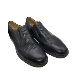 Studio Belvedere Mens Shoes Us 13 M Black Nobil Leather Casual Slip On Loafers