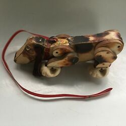 Fisher Price Vintage Snoopy Wooden Pull Toy 1961
