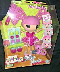 New Lalaloopsy Large Full Size Doll Silly Hair Jewel Sparkles W/ Kitty Cat