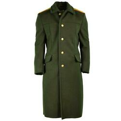Russian Army Wool Overcoat Olive Military Officer Field Coat Greatcoat New