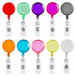 30xclip On Retractable Badge Reel With Belt Clip For Id Cards Badge