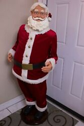 Gemmy 5 Ft Life Size Animated Singing Santa Partially Works Please Read