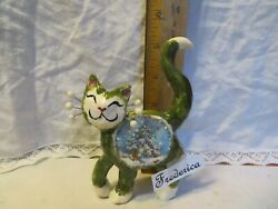 WhimsiClay original Frederica USA Made =^.^= Free Rudy cat pin worth $12