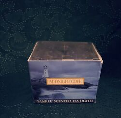 MIDNIGHT COVE Yankee Scented Tea Light Candles 12 Pack **Retired Rare**