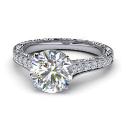 0.75 Ct Round Diamond Women Engagement Rings Solid 18k White Gold Ring Size 7 8
