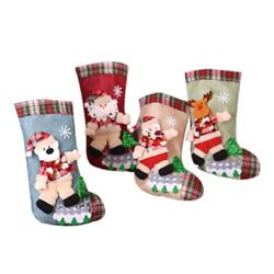 20x4pcs Gifts Bag Christmas Stocking Noel Christmas Decorations For Home
