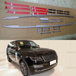 For Range Rover Vogue L405 Lwb 13-21 Silver Roof Rack Rail Bar Luggage Carrier