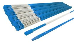 Pack Of 2500 Blue Pathway Stakes 48 Long 5/16 Diameter With Reflective Tape