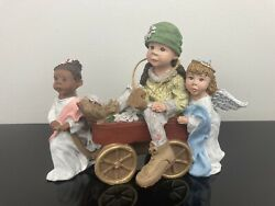 Sarahs Attic Limited Edition Figurine Angels On Assignment Signed 1995