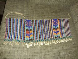 Old Beadwork With Cowrie Shells Old Native Tribal Large Size American African