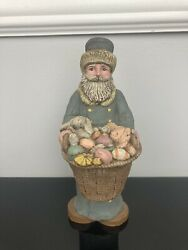Sarahs Attic Limited Edition Santa's Of The Month Easter Santa Signed 1988