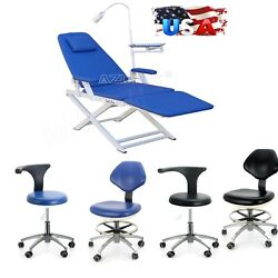 Dental Unit Portable Folding Chair /rolling Stools Adjustable Mobile Chair Ce Us