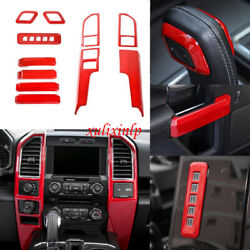 For Ford 2015-20 F150 Red Center Air Vent/ Door Handle/ Gear Shift Knob Kit Trim