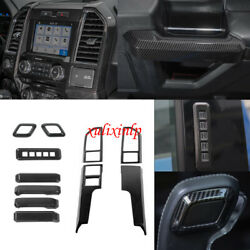 Carbon Look For Ford 15-20 F150 Center Air Vent+door Handle+gear Shift Knob Trim