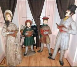 Dickens Christmas Carolers Evangeline Large Local Pick Up Only