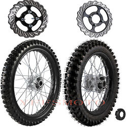 Front 70/100-19 And 90/100-16 Rear Wheel Rim Tire For Kx Crf Yz Cr Dirt Pit Bike