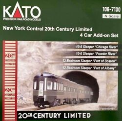 N-gauge - Kato - New York Central 20th Century Limited 4 Car Add-on Set