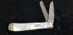Case Xx 2009 Trapper 8254 Damascus Steel Mother Of Pearl. Rare