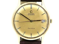 Omega Vintage Automatic Movement 9k.yellow Gold Dress Gents Watch 1970's