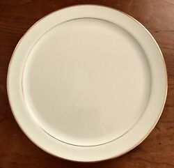 Lenox China Vintage 8 Chop Plates-gold Rim And Gold Band Insiderare1960and039s Mint