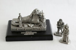Vintage Star Wars Lot Rawcliffe Jabba The Hutt With Stand Large Pewter