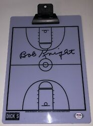 Bobby Bob Knight Signed Autographed Indiana Hoosiers Coaches Clipboard Psa/dna