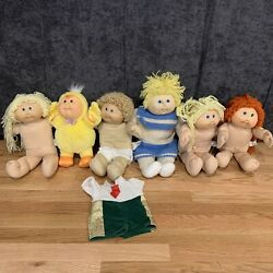 Lot Of 6 Vintage Cabbage Patch Kid Doll Mixed Collection Toys Baby Infant Chick