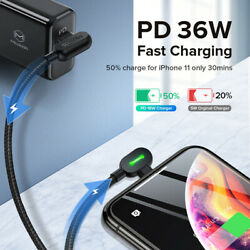Mcdodo 90 Degree Type C To Charging Cable With Led Light For Iphone/ipad